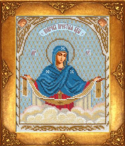 Вышивка бисером святой